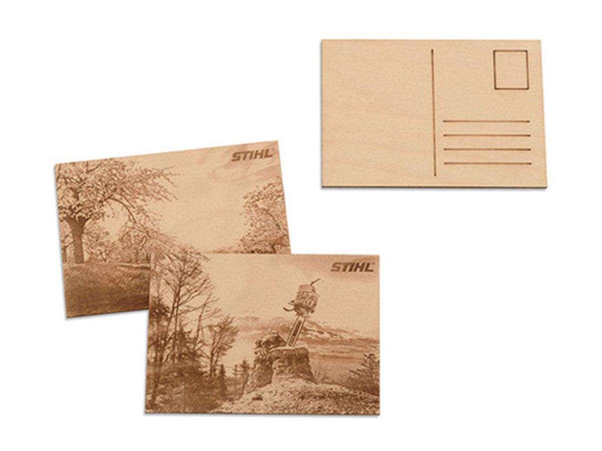 set cartoline di legno stihl