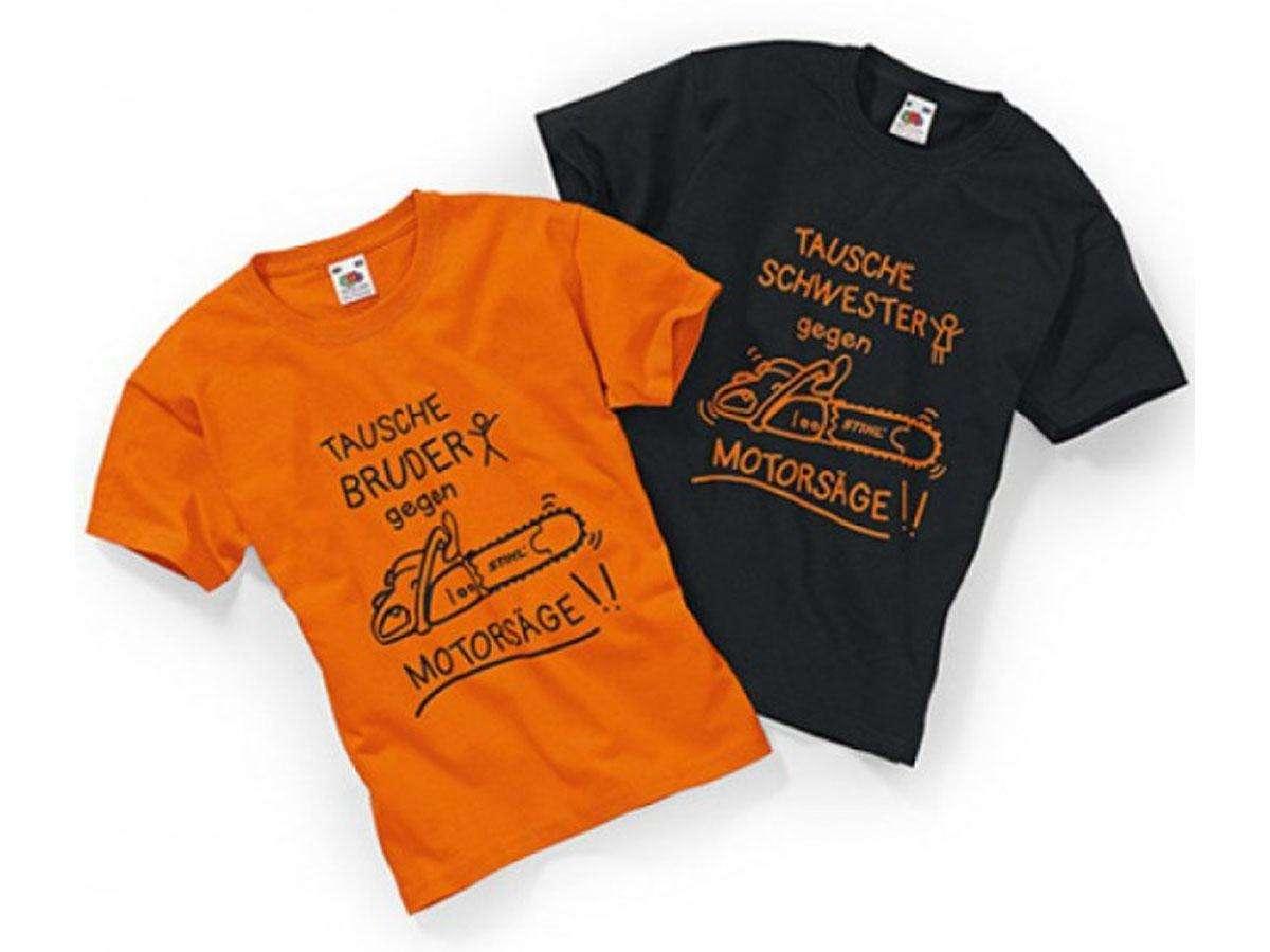 t shirt bambino arancione stihl
