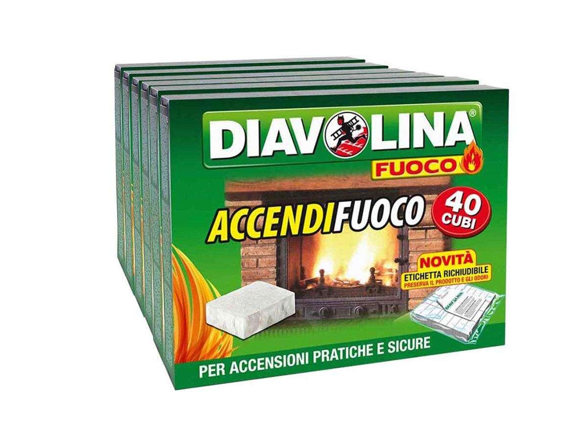 accendifuoco diavolina - 40 cubi