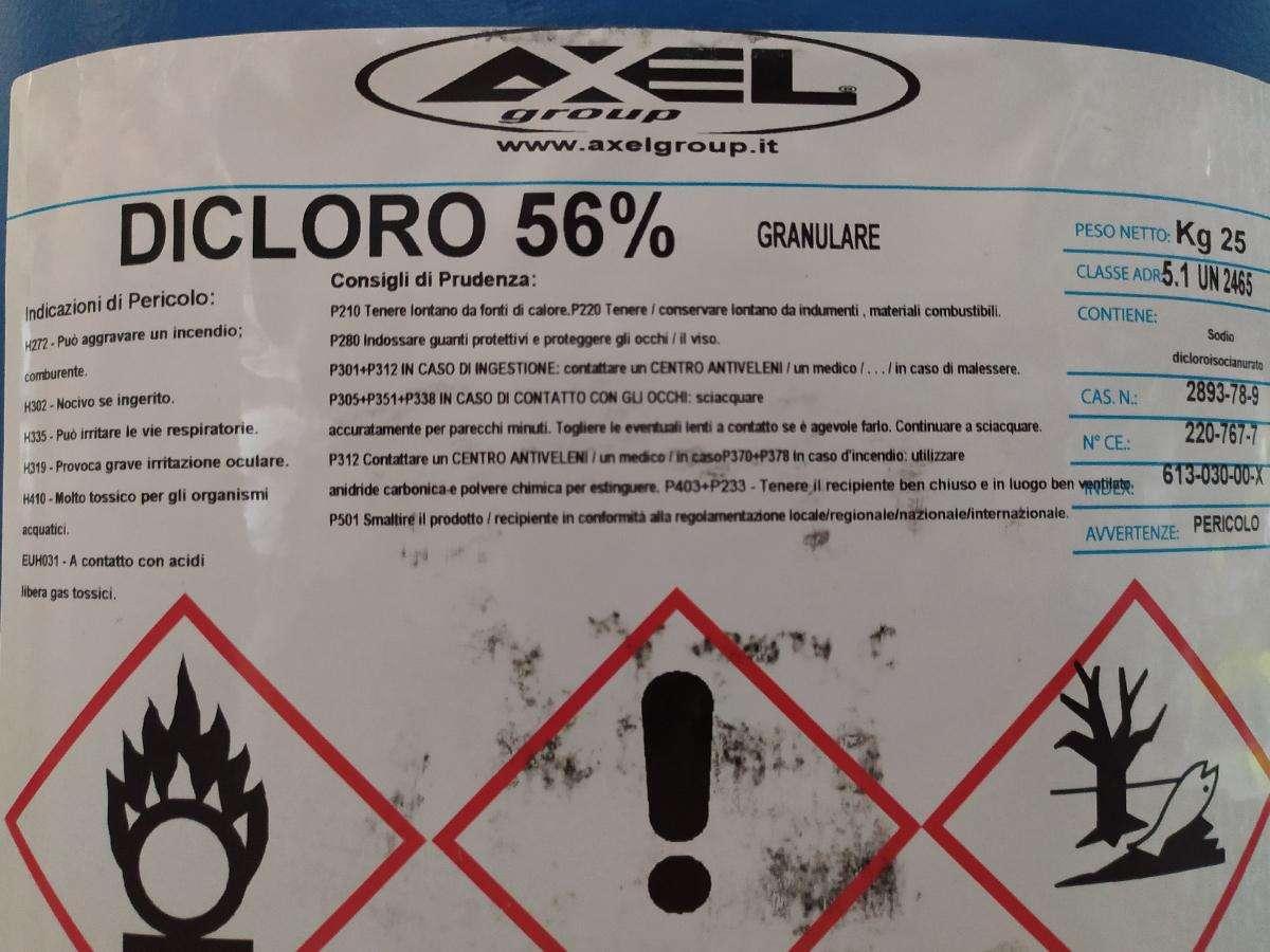 dicloro granulare 56% AXEL 25 kg dettaglio