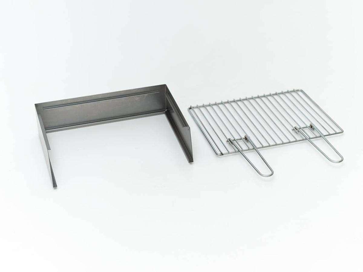 kit paratia e grill accessorio per torino grill