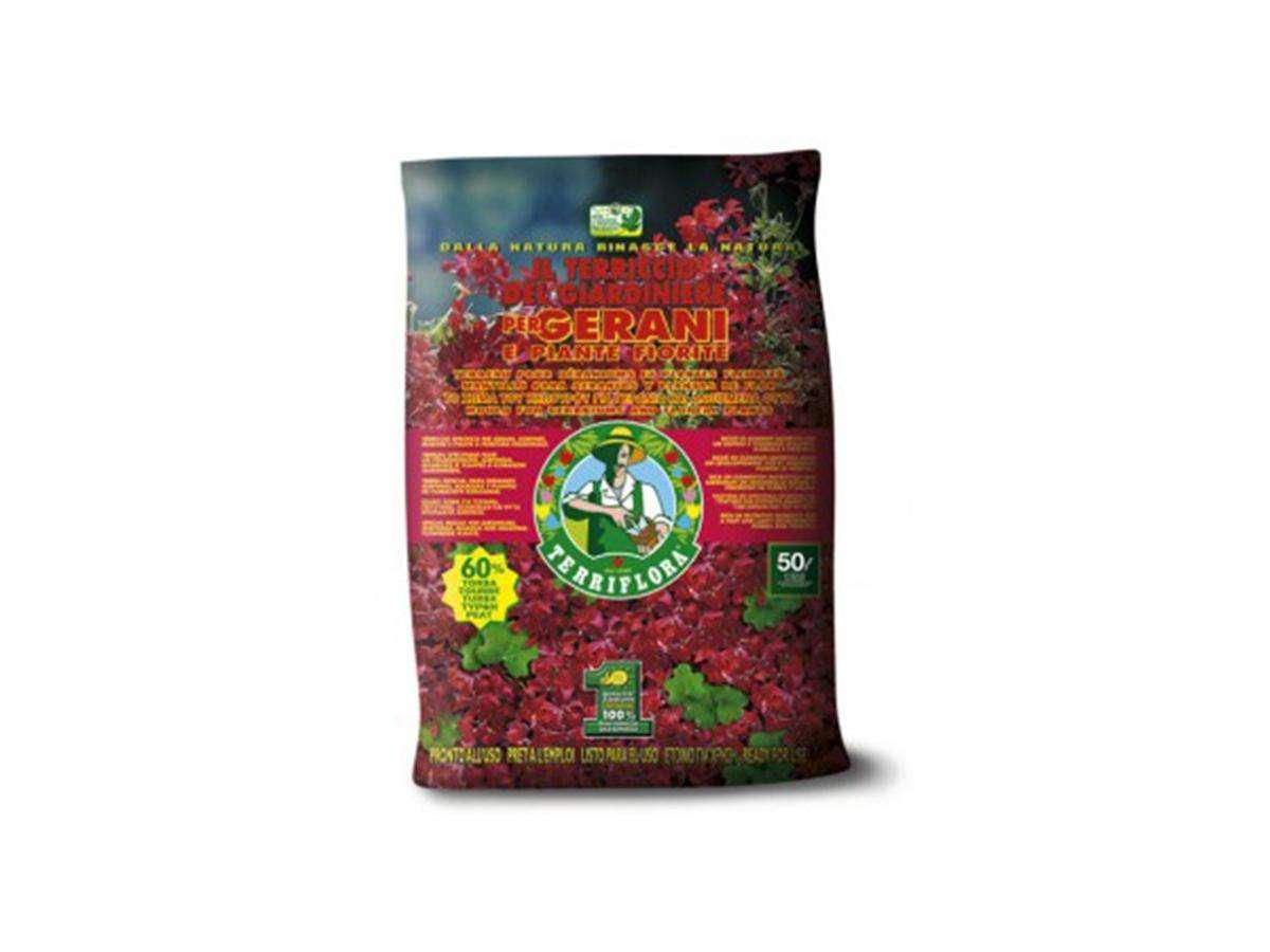 Terriccio per gerani e piante fiorite - Il giardiniere lt 80