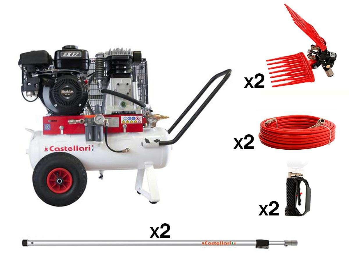 Kit Motocompressore AURA 550 + attrezzi - Castellari