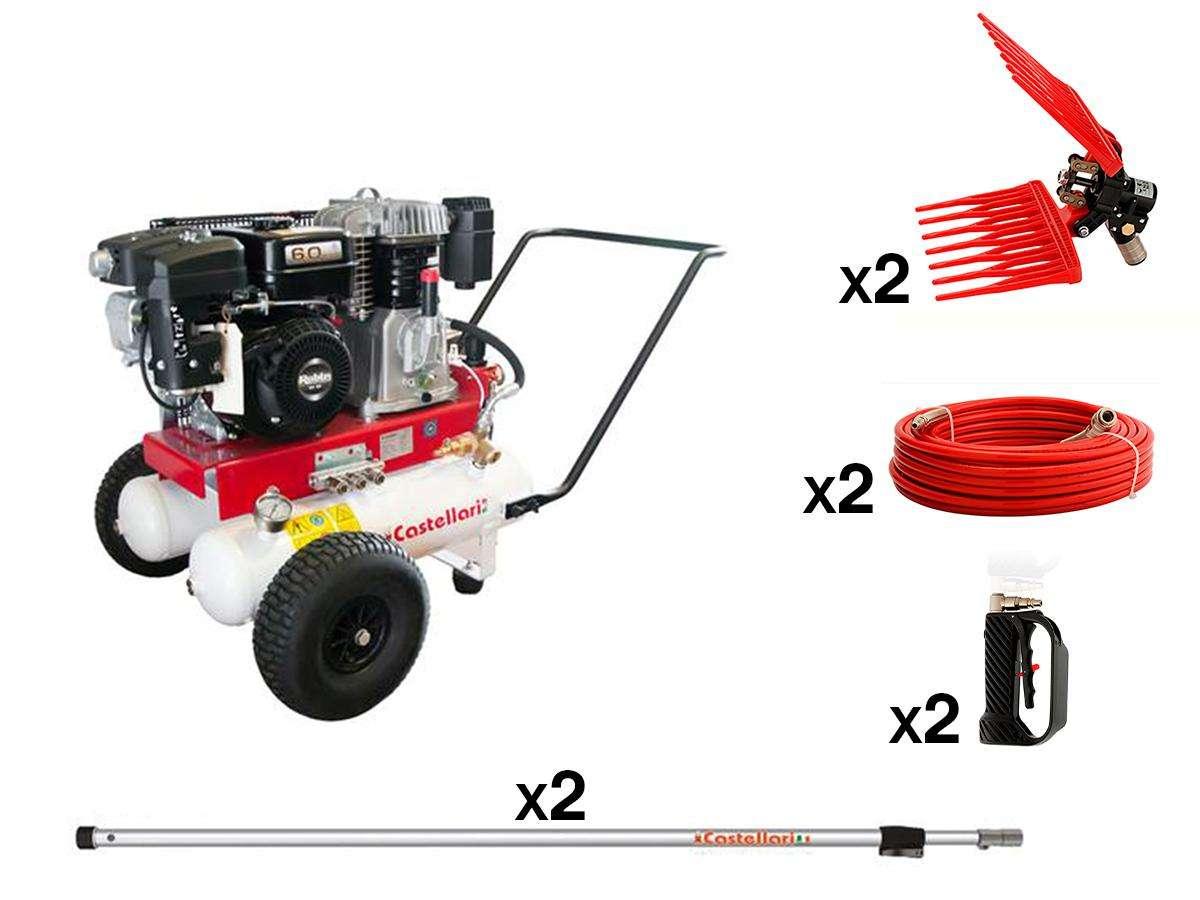Kit Motocompressore AURA 650 + attrezzi - Castellari