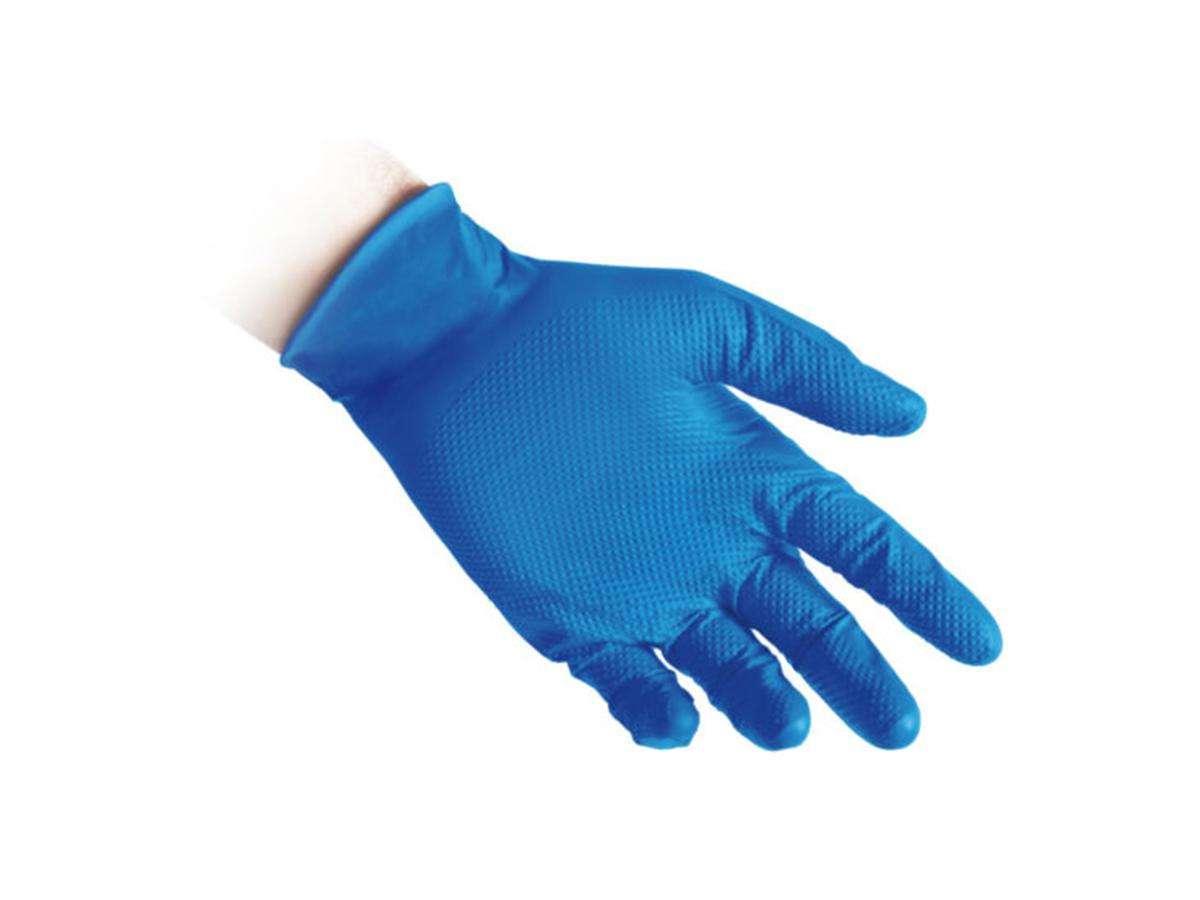 Guanti in nitrile senza polvere FULL GRIP N65 - Reflexx dettaglio