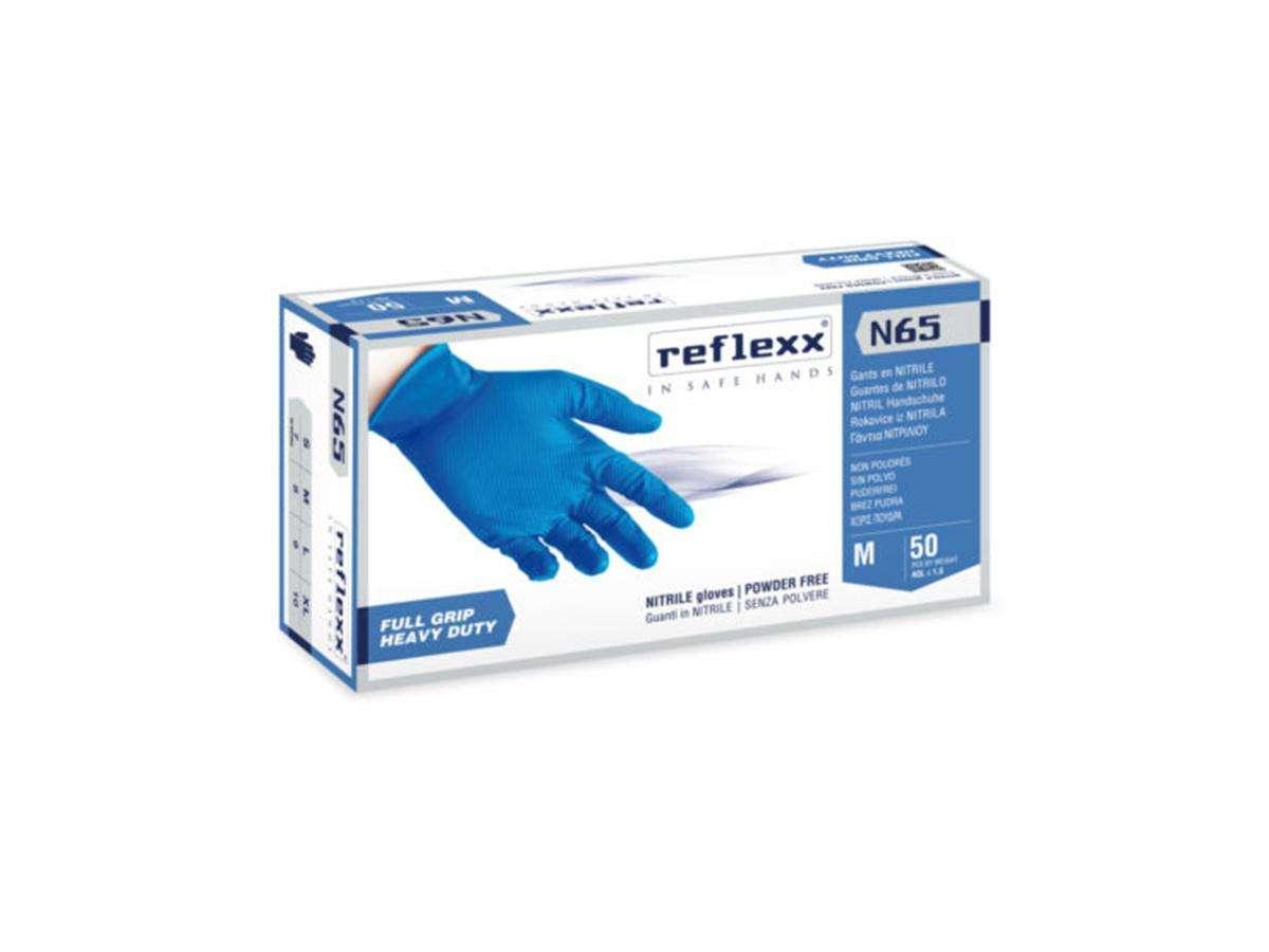 Guanti in nitrile senza polvere FULL GRIP N65 - Reflexx