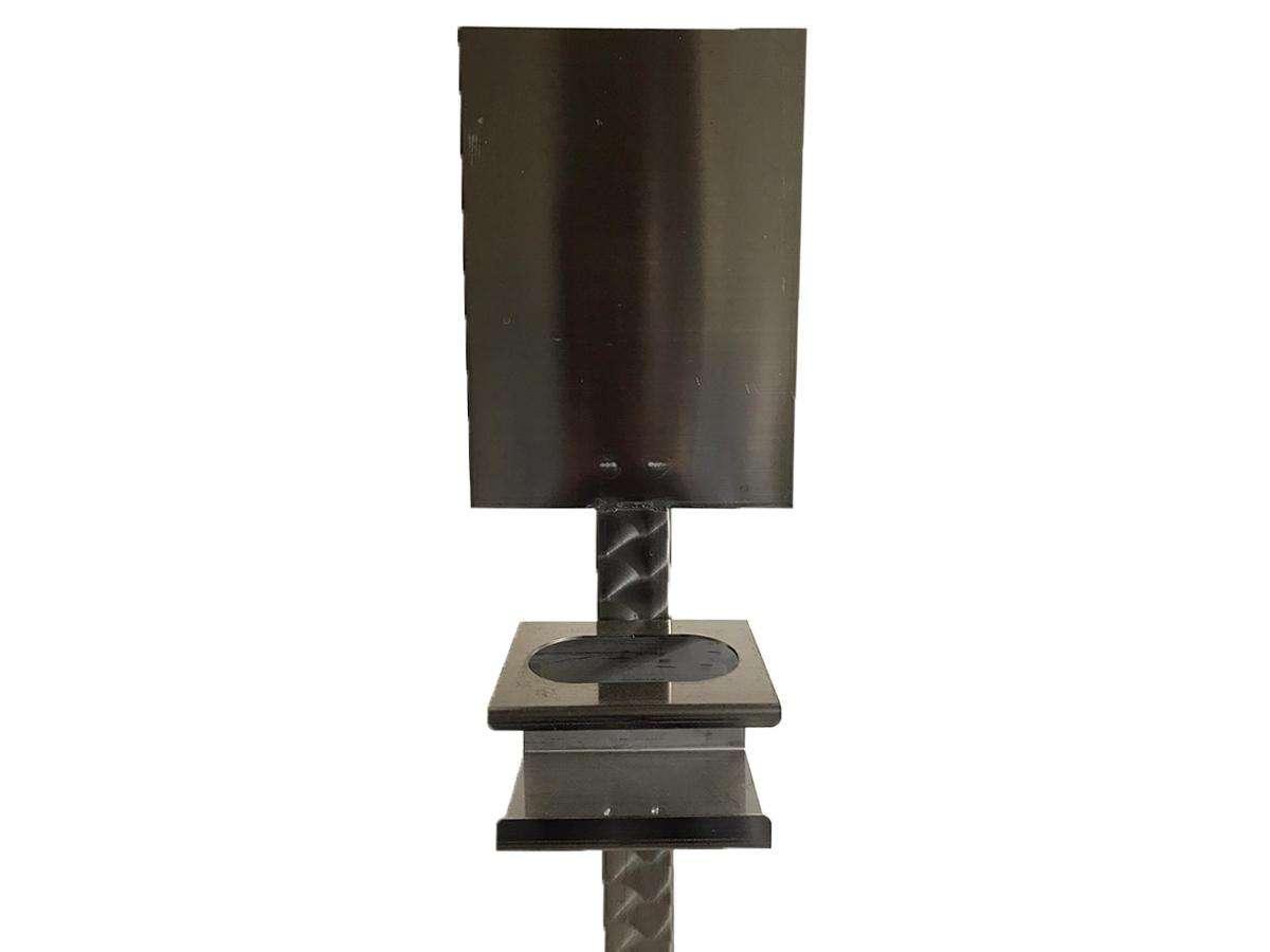 Piantana igienizzante manuale in acciaio inox