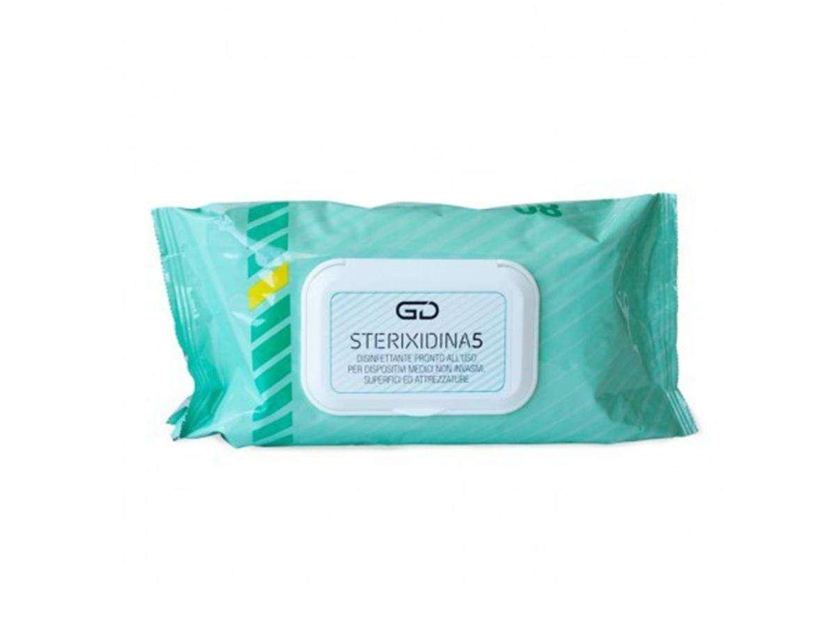 Salviettine disinfettanti pronte all'uso GD STERIXIDINA 5 - Golmar