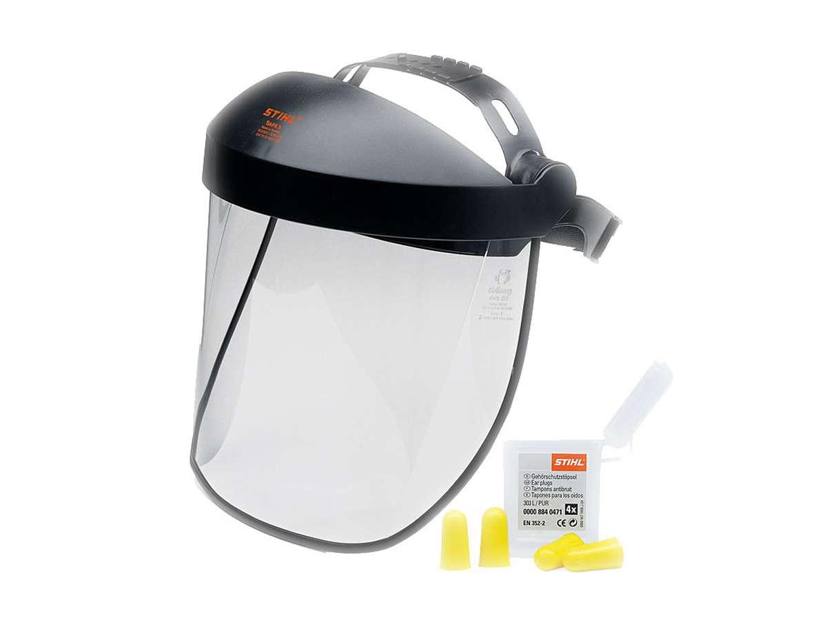 Protezione viso udito corta con visiera in plastica - Stihl