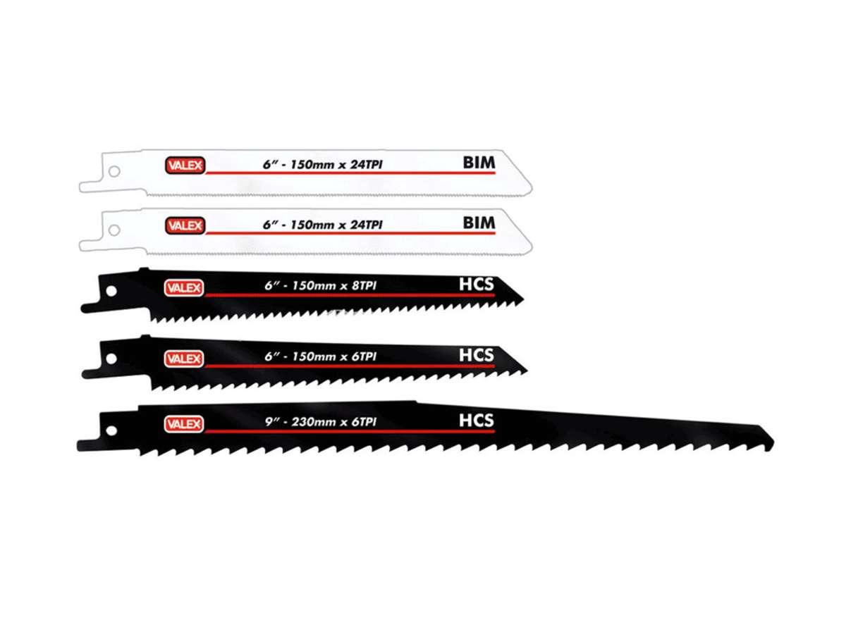 Kit 5 lame da taglio per legno-metallo - Valex