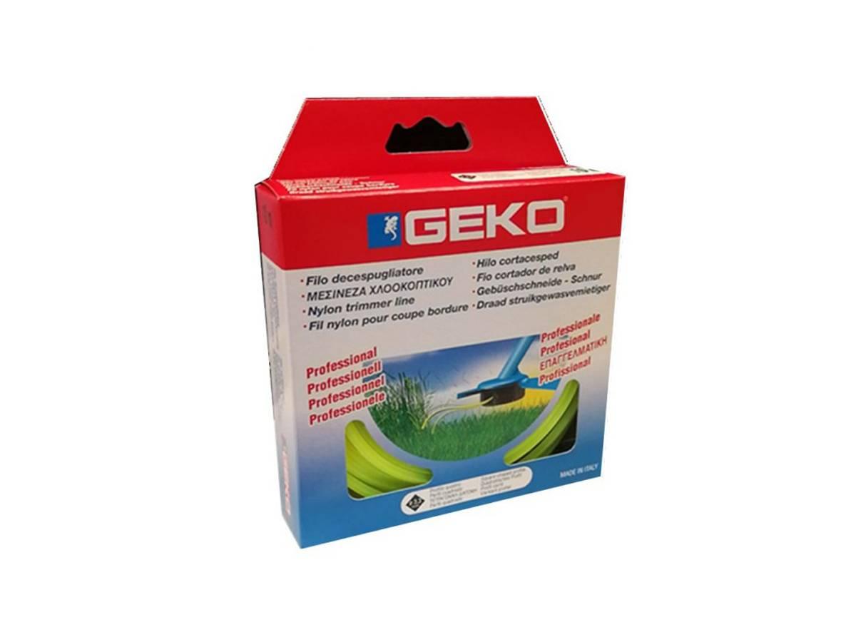 Filo decespugliatore in nylon Ø 2,4 mm profilo tondo - Geko