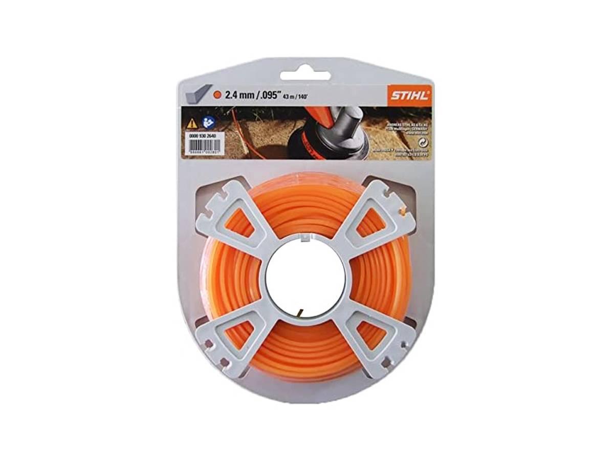 Filo quadrato in nylon per decespugliatore Ø 2,4 mm arancione - Stihl