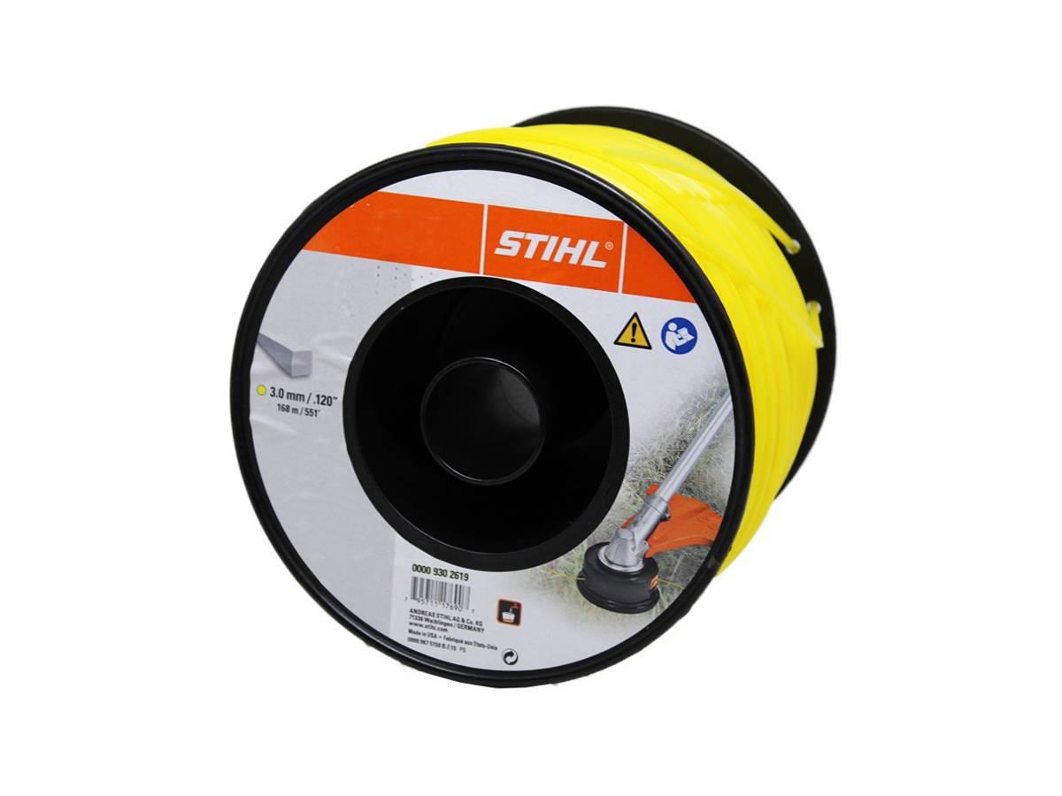 Filo quadrato in nylon per decespugliatore Ø 3,0 mm giallo - Stihl dettaglio