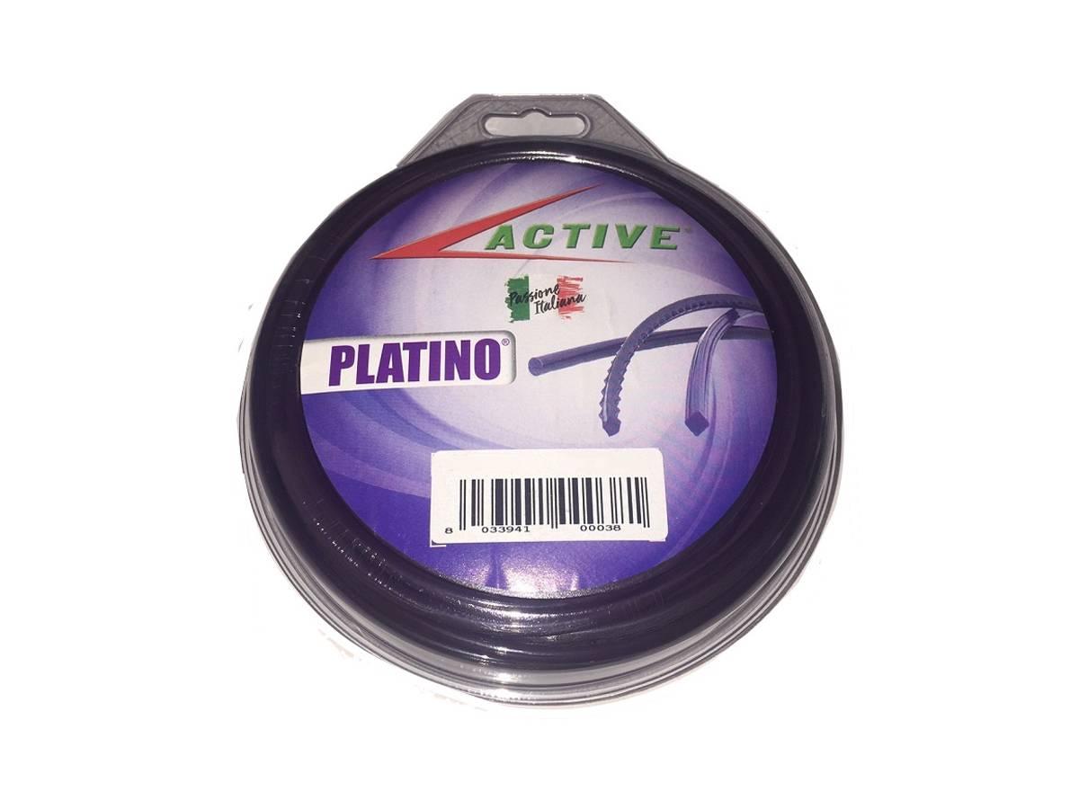 Filo tondo in nylon per decespugliatore 75 metri PLATINO - Active