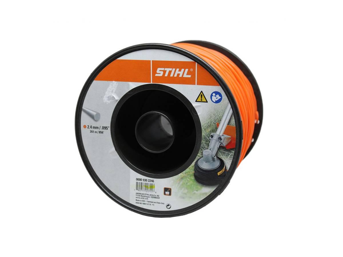 Filo tondo in nylon per decespugliatore Ø 2,4 mm arancione - Stihl dettaglio