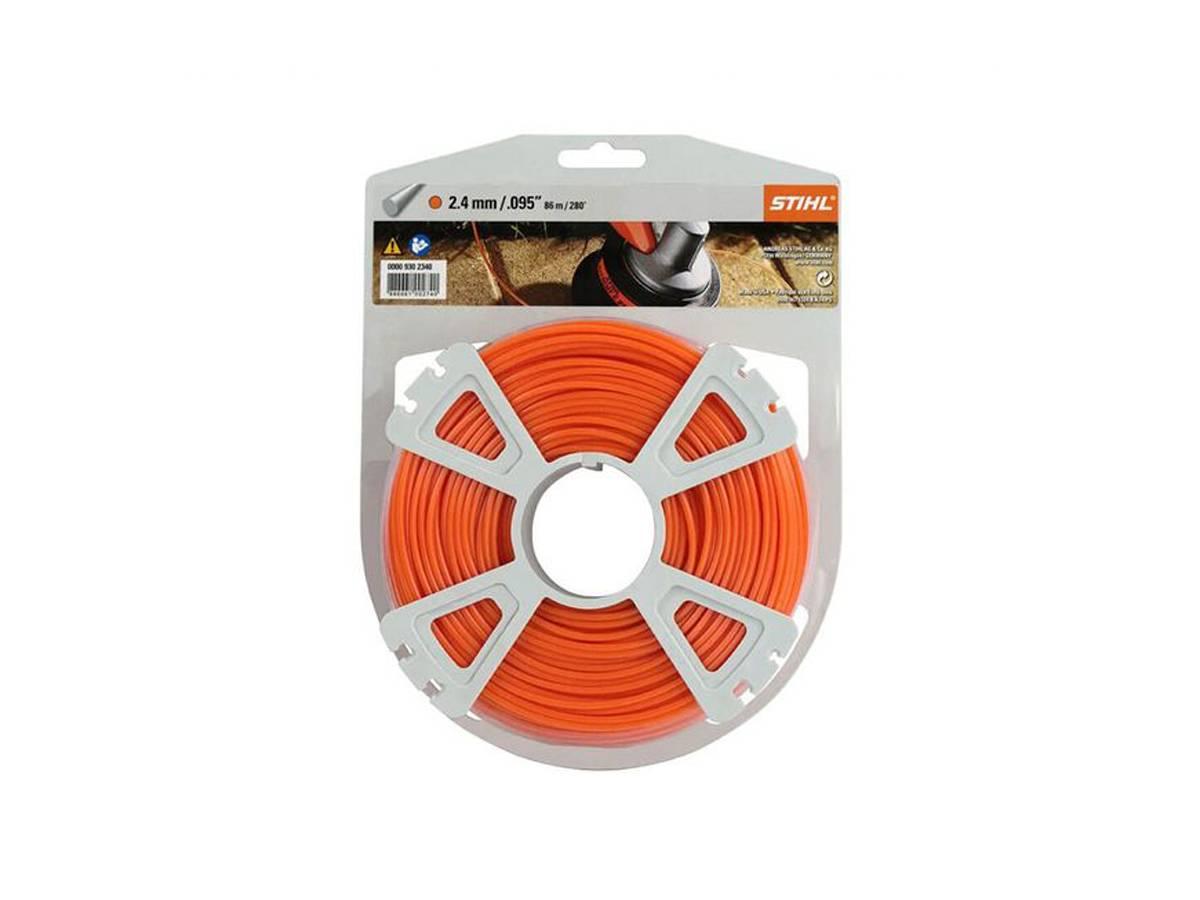 Filo tondo in nylon per decespugliatore Ø 2,4 mm arancione - Stihl