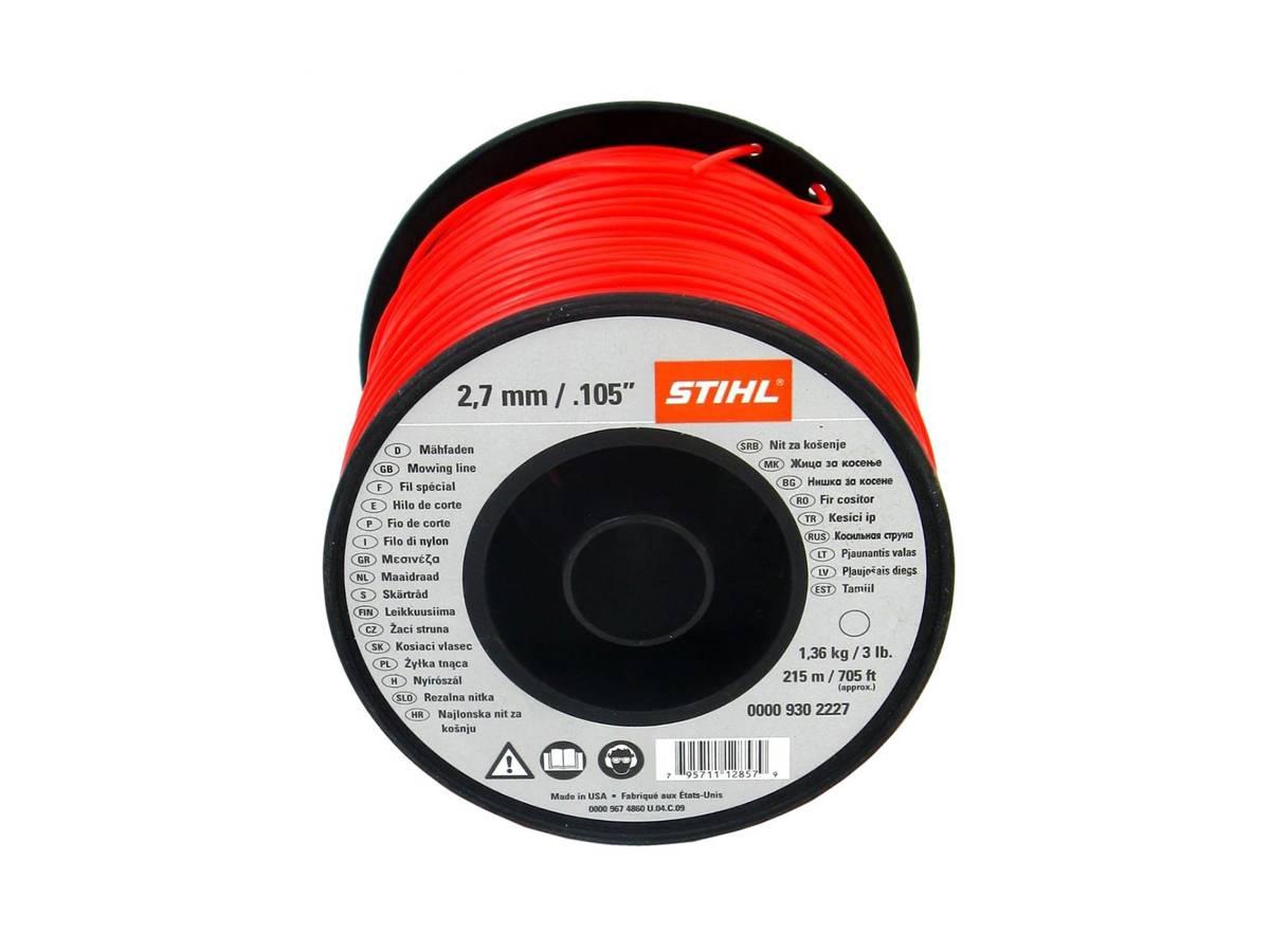 Filo tondo in nylon per decespugliatore Ø 2,7 mm rosso - Stihl dettaglio
