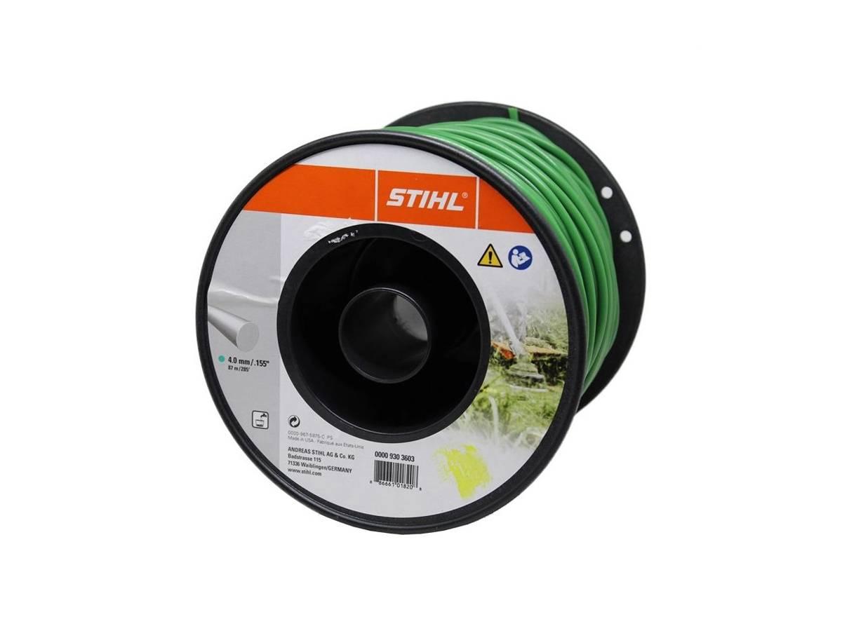 Filo tondo in nylon per decespugliatore Ø 4,0 mm verde scuro - Stihl dettaglio