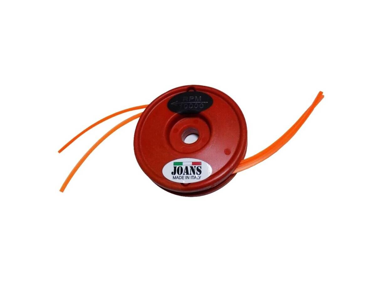 Testina per decespugliatore di fibra di vetro rossa - Joans